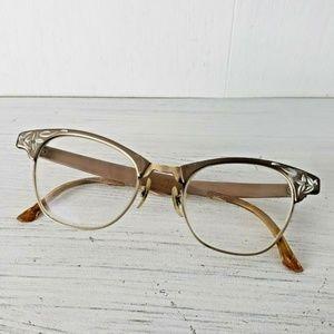Vintage Artcraft Eyeglass Frames Aluminum Cat Eye